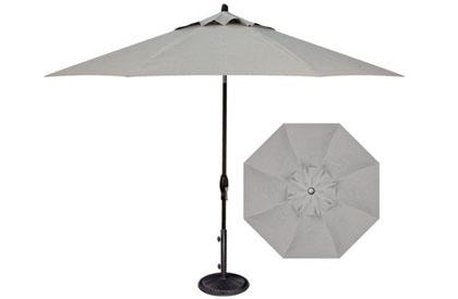Parasol de jardin argent 9 pieds octogonal pour table à dîner extérieur Treasure Garden