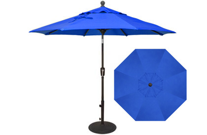 7½ foot cobalt blue Treasure Garden market umbrella