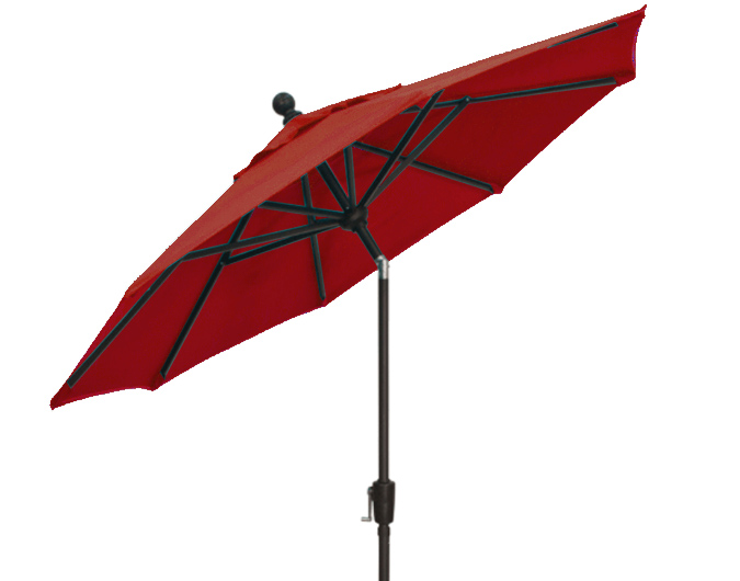 9 foot brick red burgundy Treasure Garden patio market umbrella
