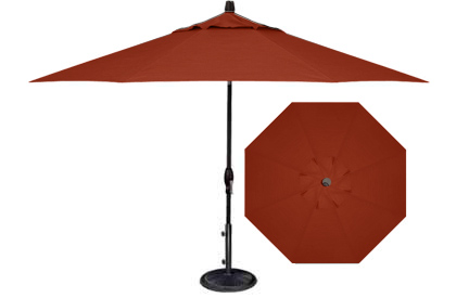 9 foot brick red burgundy patio market umbrella