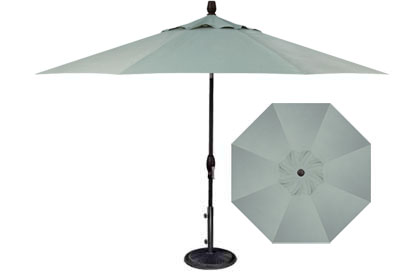 9 foot teal blue grey Treasure Garden patio market umbrella