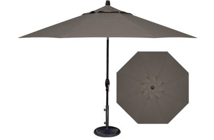 9 foot Latitude grey patio market umbrella