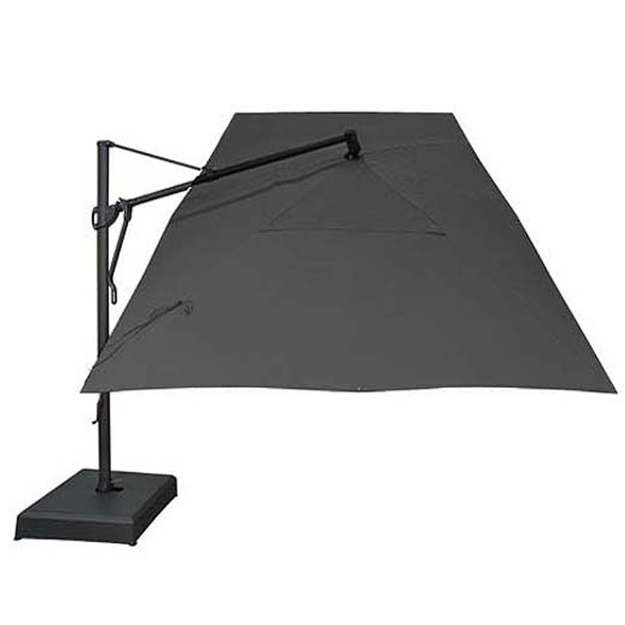 black rectangular garden umbrella 305 x 397 cm