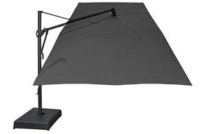 Black rectangular garden umbrella - 305 x 397 cm