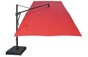 Red rectangular garden umbrella - 305 x 397 cm