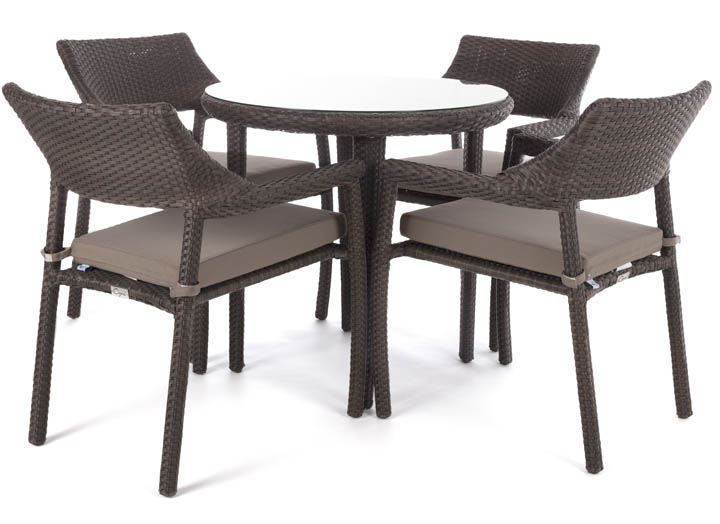 table de jardin patio bistro quatre places ogni. Black Bedroom Furniture Sets. Home Design Ideas