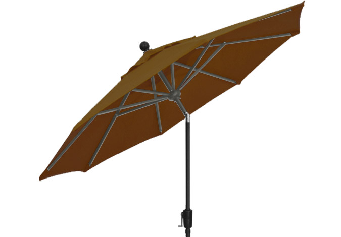 9 foot dark brown Treasure Garden patio umbrella by Treasure Garden