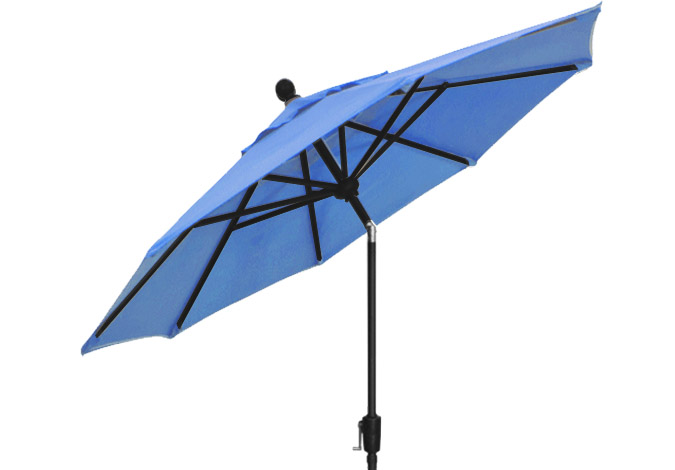 Sky blue garden umbrella