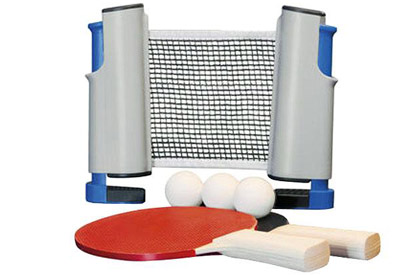 Filet et raquettes de ping pong tennis portable