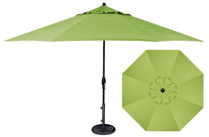 Parasol de jardin vert lime Kiwi 11 pieds octogonal Treasure Garden