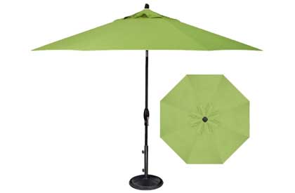 Kiwi Green 9 foot Octagonal Patio Umbrella with quality Treasure Garden O'Bravia fabric