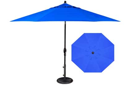Cobalt Blue 9 foot octagonal patio umbrella with vented top by Treasure Garden