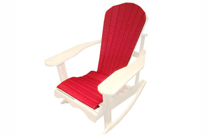 Red Adirondack chair cushion