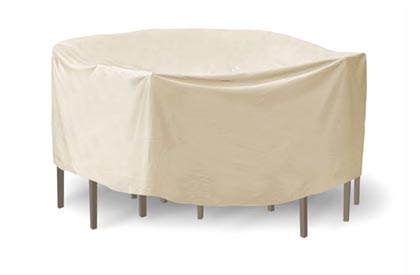 Round patio table and chair cover for up to 54 inch coverage