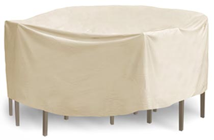 Round patio dining table and chairs cover 108 inches
