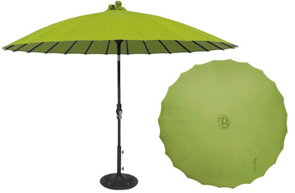 Shanghai green Asian style 10 foot high quality aluminum patio umbrella made by Treasure Garden