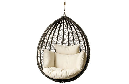 Escape patio hanging chair on chain without frame