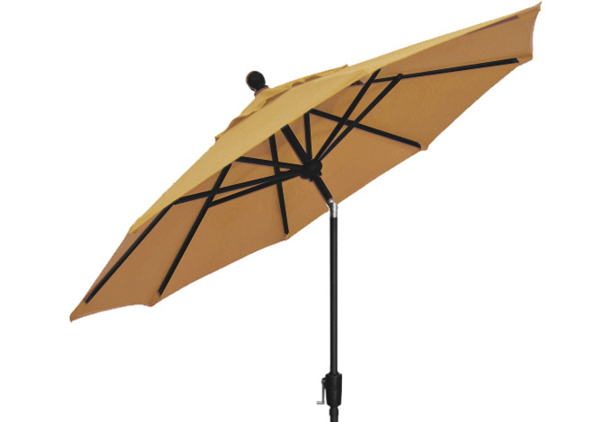 9 foot Straw beige patio umbrella