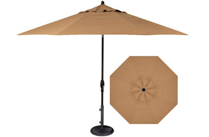 9 foot Straw beige Treasure Garden patio umbrella