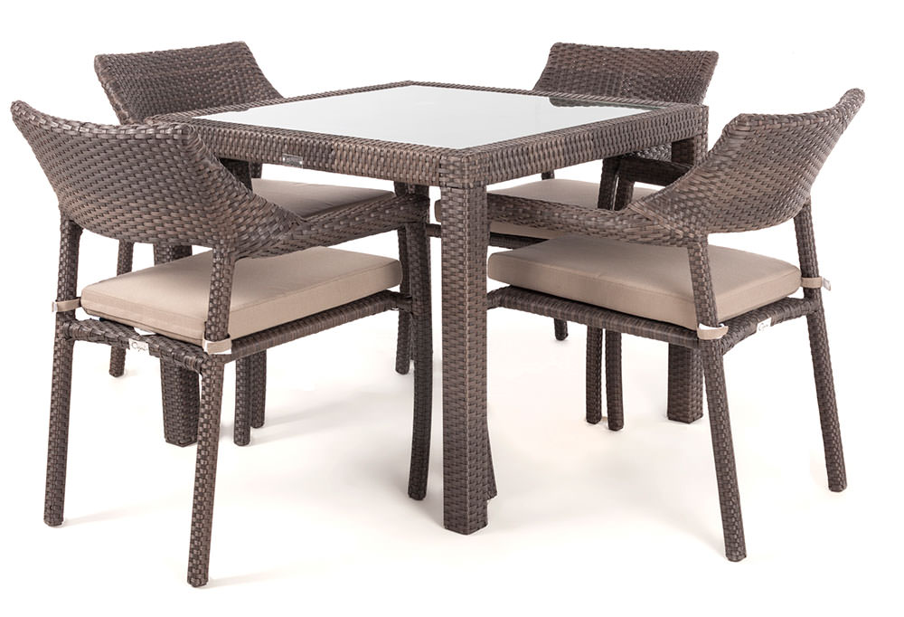 table de jardin carr e nico pour 4 personnes meubles de jardin ogni. Black Bedroom Furniture Sets. Home Design Ideas