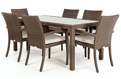 Ciro rectangular synthetic wood top dining table for 6 or 8 people