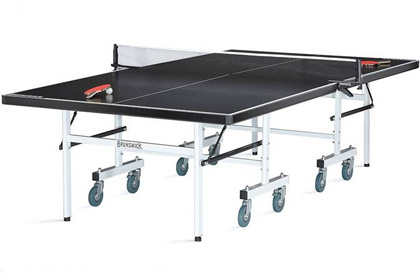 Outdoor ping pong Table Tennis foldable game on wheels by Brunswick