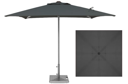 Commercial quality 7 foot black terrace umbrella by Treasure Garden