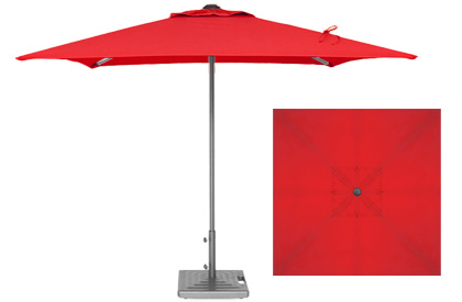 Commercial quality 7 foot red terrace umbrella by Treasure Garden