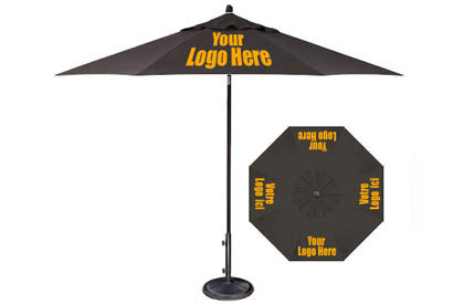 Commercial quality promotionnal patio umbrellas with your company logo printed on them