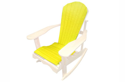 Yellow Adirondack chair cushion