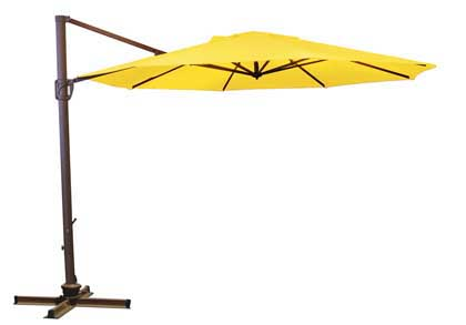 Yellow Octagonal 335.28 cm (11 foot) Offset Treasure Garden Patio Cantilever Umbrella